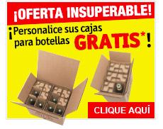 ¡Personalice sus cajas para botellas GRATIS*!