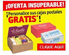 ¡Personalice sus cajas GRATIS*!