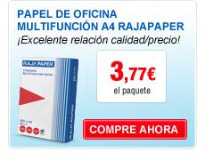 Papel de oficina multifuncion A4 Rajapaper