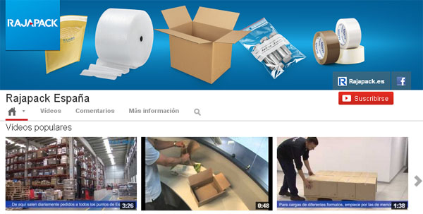 Canal Youtube Rajapack