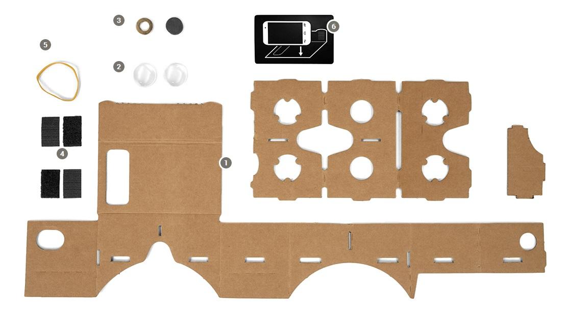 Gafas de realidad virtual cartón