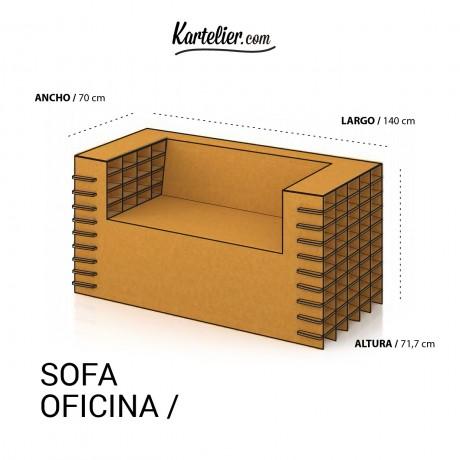 Sofa de cartón