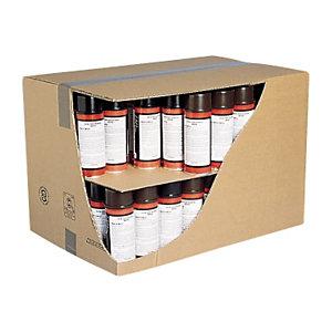 Caja de cartón reforzada para envío de botellas con separadores