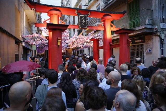 Barcelona 15/08/2015 Fiestas de Gracias. Calle Verdi con el tema Japon tradicional Foto : Alvaro Monge