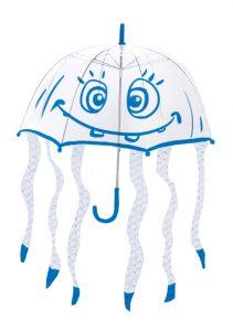 medusa con plástico de burbujas