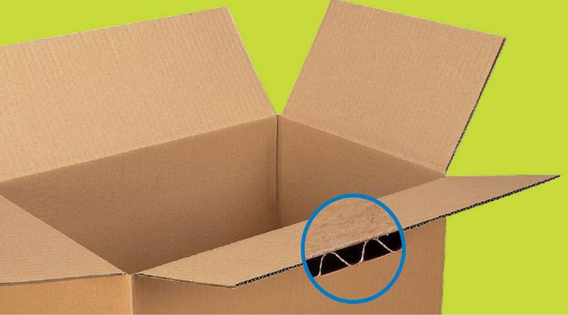Grosor caja de cartón