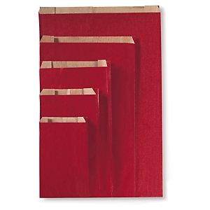 Bolsa de papel kraft rojo para regalo