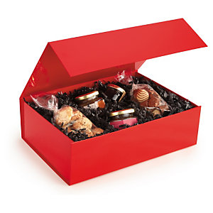 Caja de regalo roja con cierre de imán