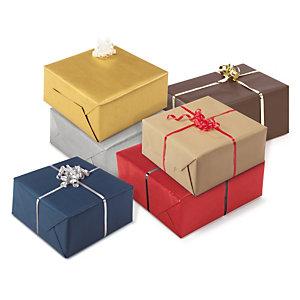 Papel kraft para envolver regalos clásicos