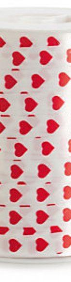 cintas corazones blanca y roja