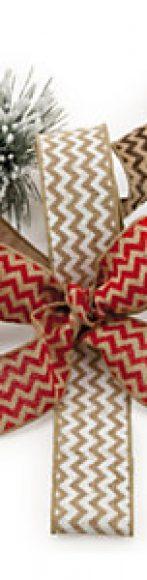 cintas y lazos en zig zag