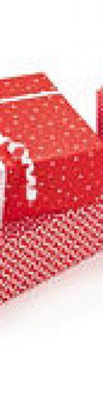 papel regalo blanco y rojo