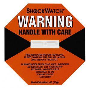 Etiqueta disuasoria para paquetes frágiles