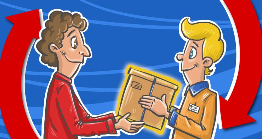 Un cliente efectúa una devolución a un ecommerce