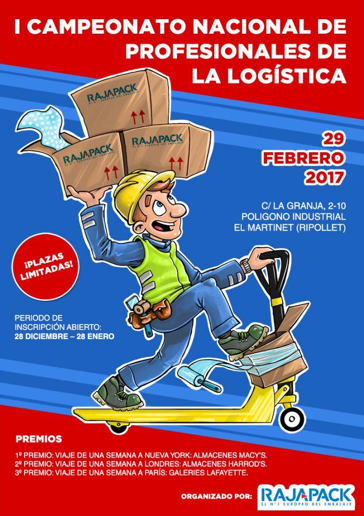 Cartel del I Campeonato Nacional de Profesionales de la Logística