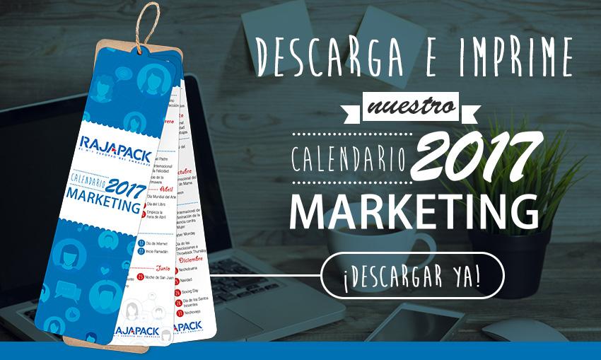 Descarga tu calendario de marketing 2017 imprimible aquí