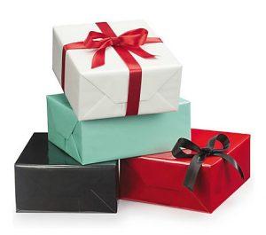 Papel de regalo brillante de colores, san valentín