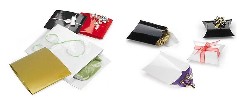 Sobres de regalo y cajas almohada