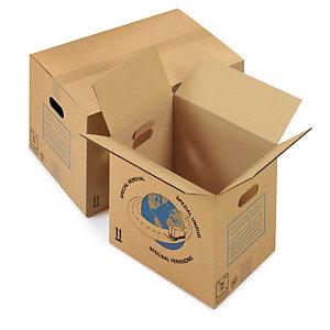Caja de cartón para mudanza de canal simple