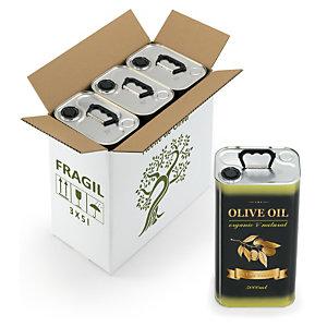 Cajas reforzadas de cartón para el envío de aceite