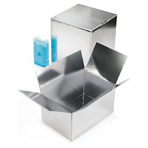 Caja isotérmica con revestimiento para embalaje de alimentos