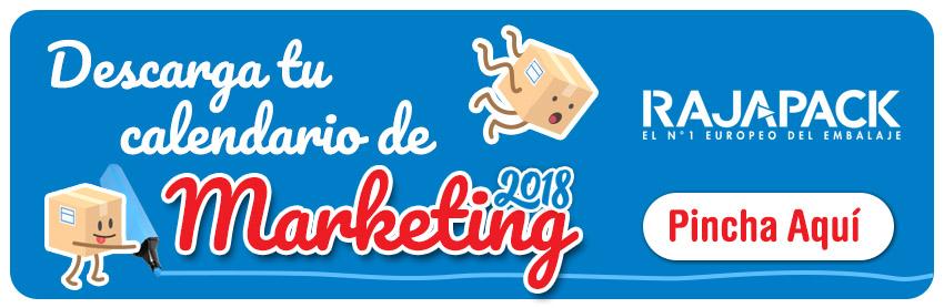 Descarga el Calendario Marketing & Ecommerce 2018 de Rajapack
