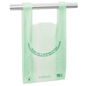 Bolsa biodegradable con asas camiseta