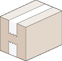 Cerrar caja con cinta adhesiva - Cierre U