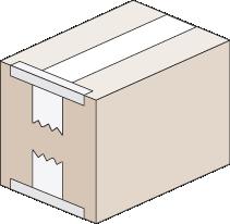 Cerrar caja con cinta adhesiva - Cierre L + U