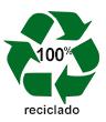 Etiqueta de productos reciclado