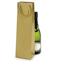 Bolsa para botellas en papel charol