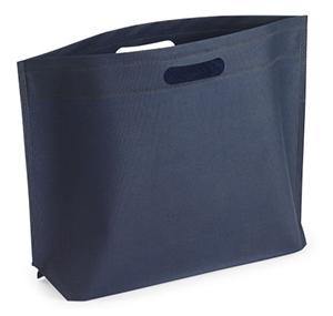 Bolsas ecológicas: Bolsa de tejido sin tejer apaisada con asas troqueladas
