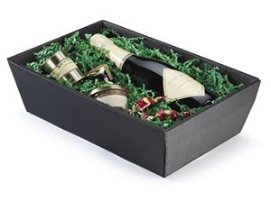 Cesta para botellas de cartón microcanal