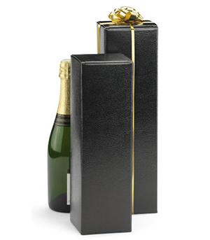 Estuche para botellas en cartón efecto cuero