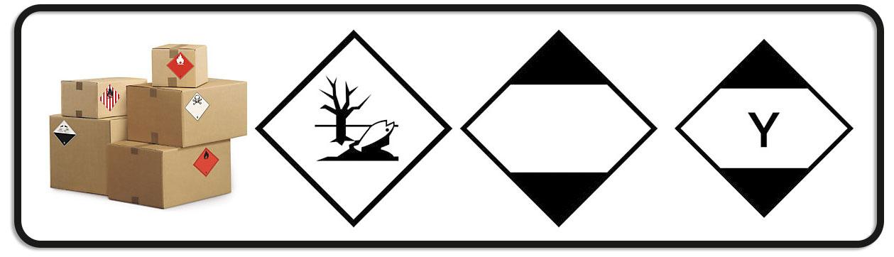 Etiquetas de materias peligrosas