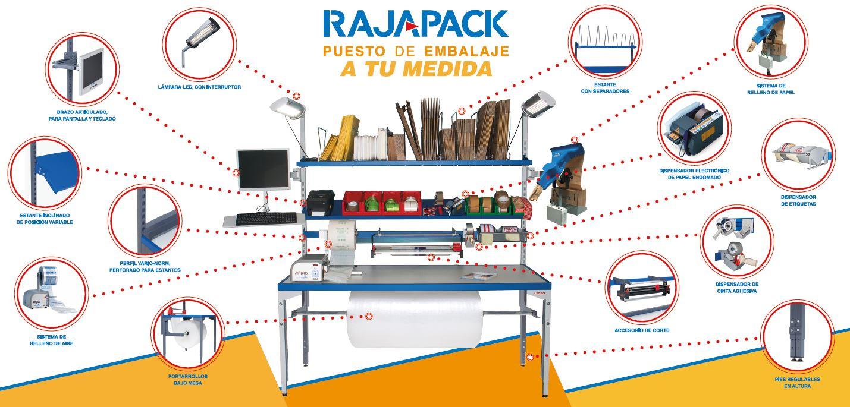 Rajapack te personaliza tu puesto de embalaje
