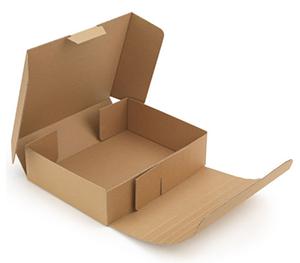 Caja de ancho adaptable para enviar un perfume