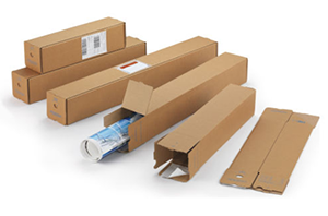 Tubos de cartón para envíos cuadrados