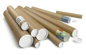 Tubos de cartón para envíos redondos