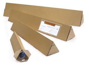 Tubos de cartón para envíos triangulares