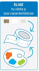 Paso 1 Personalización de cintas adhesivas
