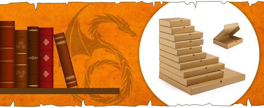 Embalaje inspirado en Juego de Tronos: cajas para libros