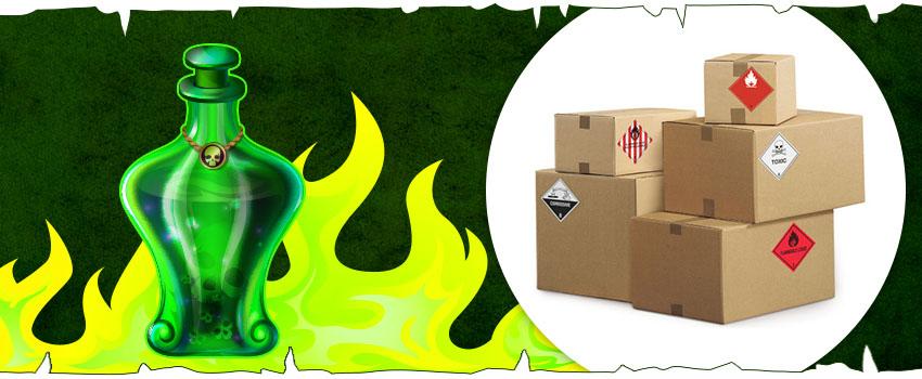 Embalaje inspirado en Juego de Tronos: etiquetas para el fuego valyrio