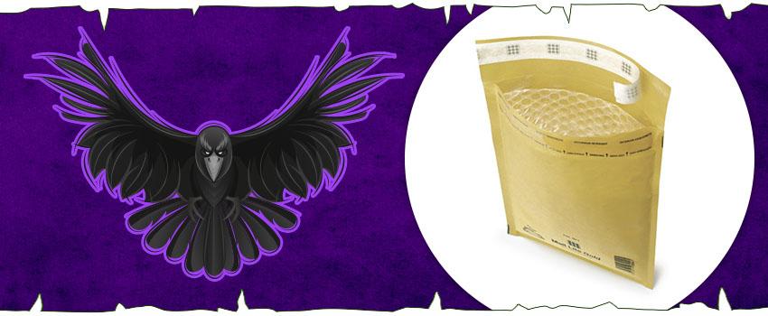 Embalaje inspirado en Juego de Tronos: sobres acolchados para los mensajes de los cuervos