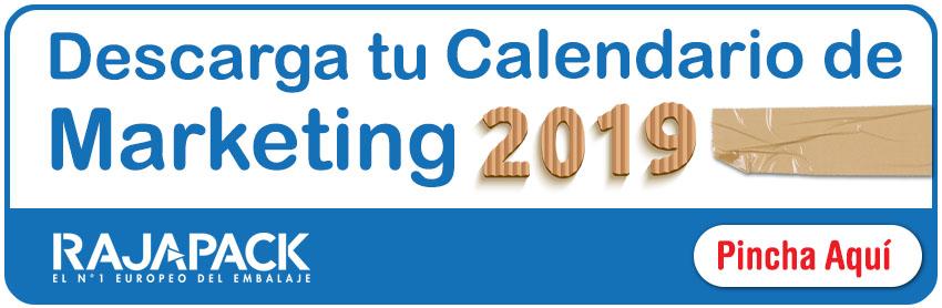 Descargar el Calendario de Marketing 2019 de Rajapack
