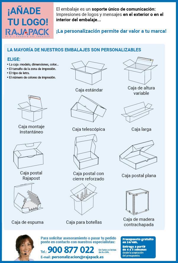 Personalizar cajas de cartón Rajapack