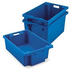 Cajas de plástico para almacenaje apilables y encajables