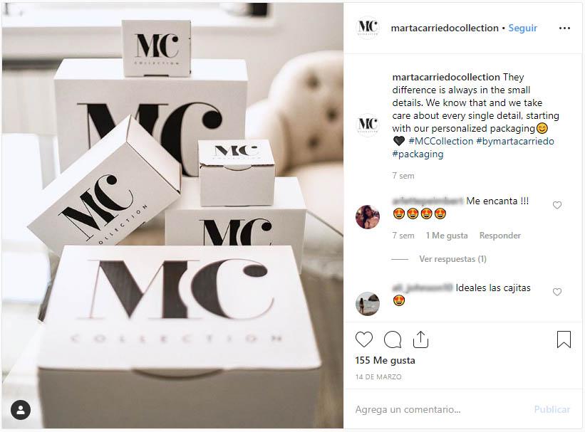 Personalización de cajas diseño Marta Carriedo