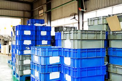 Envases Retornables de Transporte (ERT) en un almacén