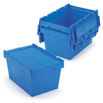Envases Retornables de Transporte (ERT): contenedores de plástico encajables con tapas